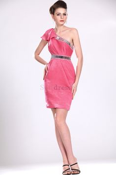 Knee Length Misses Natural Waist Pleated Sashes Watermelon Sleeveless Velvet Crystal Cocktail Dress