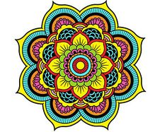 Mandala Wall Decal Full Color Namaste Indian by onehipstickerchic