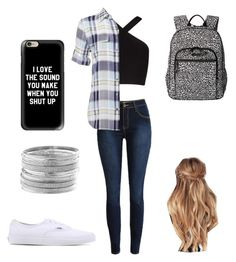 """school outfit"" by a-hidden-secret on Polyvore featuring BCBGMAXAZRIA, Equipment, Vans, Vera Bradley, Casetify and Avenue"