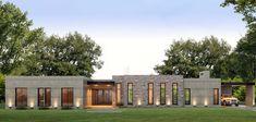 Estudio NF y Asociados House Roof Design, House Outside Design, Flat Roof House, Bungalow House Design, Facade House, Contemporary House Plans, Modern House Plans, Minimalist House Design, Modern House Design
