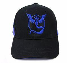 Pokemon GO Team Mystic Embroidery Hip Hop Hat Baseball Cap Snapback #Pokemon #PokemonGO #TeamMystic #Embroidery #HipHop #Hat #Baseball #Cap #Snapback