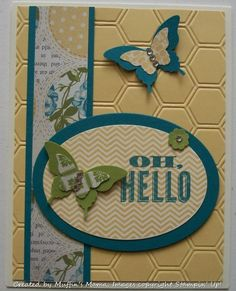 Oh, Hello in Saffron by Muffin's Mama - Cards and Paper Crafts at Splitcoaststampers