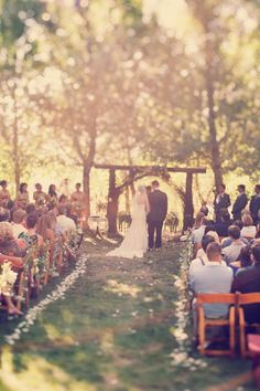 If I don't get married on a beach, I would LOVE to get married in the forest next to a stream or on a lake.                         Pond