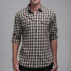 Adams Flannel Plaid Shirt Olive now featured on Fab.