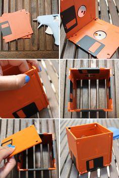 DIY Floppy Disk Planters - Brit & Co. - Tech