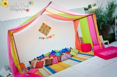 India feel theme potential idea drap colorfull fabric inside tent. with cool star lights... I wonder if ticks would be a problem gosh ... would be really cool though
