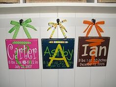 baby plaques - vinyl project. cricut-ideas-projects # Pin++ for Pinterest #