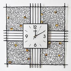 """19.75 """"H Vogue Прямоугольные Металлические настенные часы – RUB p. 3 615,09"""