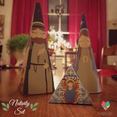 The Eco Nativity Set is an exclusive, beautiful design that is ready to bring life and light to any of the spaces you choose to display.  them. Available now at Mowik shop! #Papercrafts #Scrapbook #DIY #Christmas #Crafts #Decor #Decoration #Home #Fun