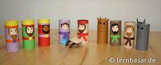 Krippenfiguren aus Klopapierrollen