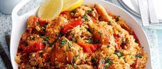 Baked Spanish rice with chicken and chorizo