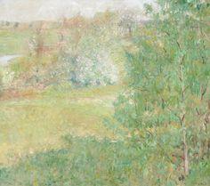 Adobe houses by Joaquín Sorolla. Impressionism. landscape