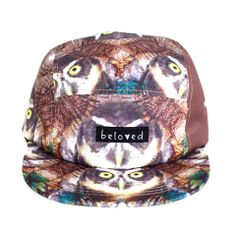 5 Panel Owl Hat- READY TO SHIP