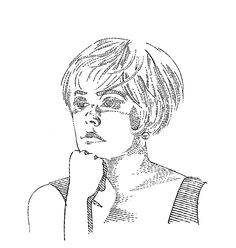 #Woman #tegnepeter #illustration #heydenreich