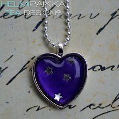 Lila tähtitaivas sydän 20€