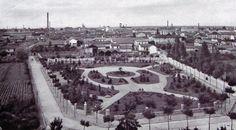 Legnano, Corso Magenta, ieri un parco, oggi c'è la scuola secondaria Bonvesin de la Riva.