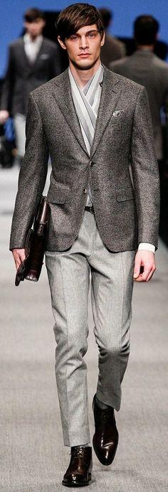 Canali Fall/Winter 2014 | Milan Fashion Week#Gentleman #follow http://www.pinterest.com/armaann1/classy-mofos/ | Men's fashion | Style |