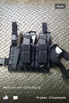 Battle rig drop leg mag pouch & build system.