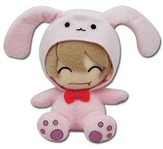 "From the popular anime series Ouran High School Host Club comes this new series of collectible plush! This 6 inch plush depicts Mitsukuni ""Honey"" Haninozuka dress up as his pink stuffed rabbit! Offici"