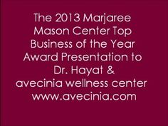 MMC 2013 Top Business of the Year Award Ceremony - Avecinia Wellness Center