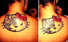 Hello Kitty Tattoos, Cat Tattoo, Tatoos, Ink, Tatto, Cat Tat, Tattos, Ink Art