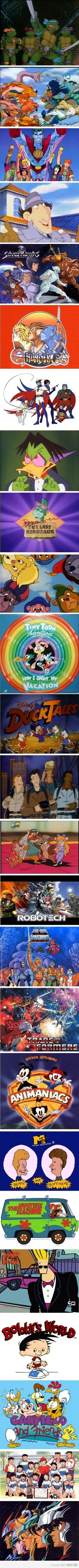 didn't really watch Denver the last dinosaur... or Robotech.... or Bobby's world