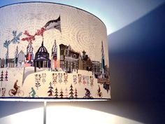 Josie Shenoy Illustration - Secret London Lamp Shade. See this at New Designers 2013