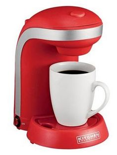 Kitchen Selectives Single Serve Coffee Maker With Mug  3 Color Choices!