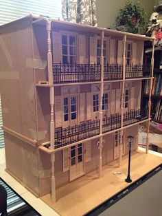 "Jocelyn's Mountfield Dollhouse: ""Real"" Work on the Creole Townhouse Facade Begins"
