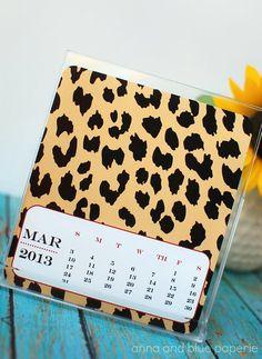 Printable 2013 Desk DIY Calendar - Desk Calendar by anna and blue paperie.