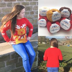 Rudolph Christmas sweater and yarn packs are now available on the threebearsyarn.co.uk website! Prices start from £18.99 and includes all of the yarn needed to make your choice of size plus a printed pattern. #threebearsyarn #blackburnyarndyers #christmasjumper #cristmassweater #rudolph #rudolphtherednosedreindeer #knitting #makeitbritish #madeintheuk