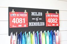 Race Bib and Medal Holder - Miles of Memories - Extra Large Size