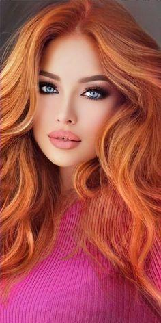 Beautiful Red Hair, Most Beautiful Eyes, Beautiful Blonde Girl, Stunning Eyes, Beautiful Redhead, Beautiful Girl Image, Gorgeous Women, Blonde Beauty, Hair Beauty