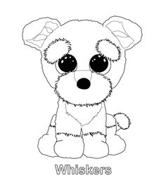 ty big eye coloring pages | beanie boo colouring pages | beanie boos | Pinterest ...