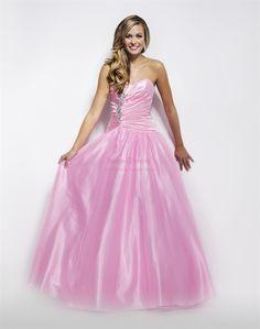 Light Pink Prom Dress, Pink Ball Gown, Floor Length Evening Dresses $162.00