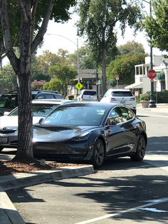 Sept 17. Spotted!  #teslamodel3 !  Gotta be high on the list or know #elonmusk !  #tesla #coolcars #electriccars @STEphenTSAng