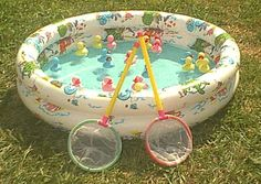 Fishing in a kiddie pool