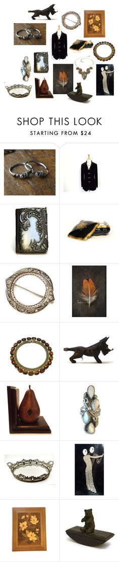 """""""Friday's Feature Picks"""" by patack ❤ liked on Polyvore featuring interior, interiors, interior design, home, home decor, interior decorating, Mémoire, Eureka, Butler & Wilson and vintage"""