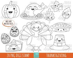 HALLOWEEN stamp pack includes 20 cute graphics  PERSONAL AND SMALL COMMERCIAL USE  This stamp pack is perfect for scrapbooking, paper crafts, card design, stickers, party invitations ... and much more! Is perfect for digital use and print.  INSTANT DOWNLOAD / NO SHIPPING  You will Candy Clipart, Cute Clipart, Valentines Day Clipart, Love Mail, Turkey Craft, Autumn Theme, Digital Stamps, Cute Designs, Planner Stickers