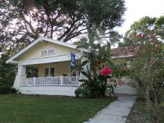 1719 W Hills Avenue #Tampa, #FL 33606  Charming Craftsman style bungalow in the heart of historic hyde park. Gracious front porch, gleaming original hardwood floors, built in book cases, crown molding boxed ceilings, and fireplace (sold as is). Updated kitchen with stainless steel appliances and granite countertops. Large master bedroom could easily accommodate adding a master bathroom. #Florida #RealEstate