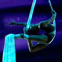 Aerial Silk act. Lubasha. www.noveltyent.com