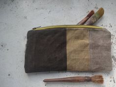 Large Waxed Canvas Pencil Case by koatye1 on Etsy
