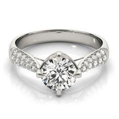 Transcendent Brilliance 14k Gold 5/8ct TDW Multi-row Diamond Band Engagement Ring (F-G, VS1-VS2) (Rose - Size 5.5), Women's, Pink