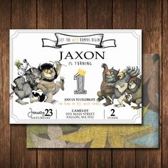 Where The Wild Things Are Invitation digital file by TLCSquared