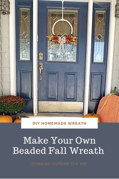 A easy to make fall wreath for all levels of crafters.