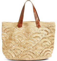 Main Image - Mar y Sol Tulum Tote - Bags and Purses 👜 Free Crochet Bag, Crochet Tote, Crochet Handbags, Crochet Purses, Tulum, Crotchet Bags, Knitted Bags, Crochet Motifs, Crochet Patterns