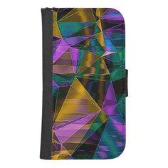 Mosaic 05 #aqua #purple #gold #green iPhone wallets