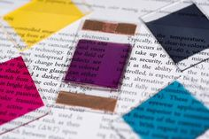 Samples show some of the colors researchers have produced in electrochromic polymers. The materials can be used for applications such as sunglasses and window tinting that can be turned on and off through the application of an electrical potential. Image: Rob Felt