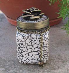 Mosaic Trinket Jar by BohoJunkie on Etsy, $16.50