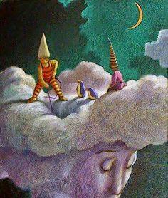Carlo Salomoni, original paintings, drawings and sculptures. Creative Writing, Whimsical, Original Paintings, Sculptures, Clouds, Fantasy, The Originals, Drawings, Inspiration